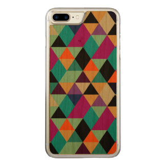 Modern Colorful Geometric Triangles Pattern 3 Carved iPhone 8 Plus/7 Plus Case