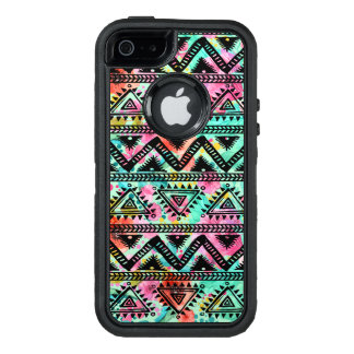 Modern Colorful Geometric Tribal Pattern OtterBox Defender iPhone Case