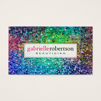 Modern Colorful Glitter & Sparkles Business Card