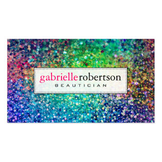 Modern Colorful Glitter & Sparkles Pack Of Standard Business Cards