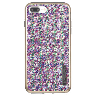 Modern Colorful Glitter Texture Print Incipio DualPro Shine iPhone 8 Plus/7 Plus Case