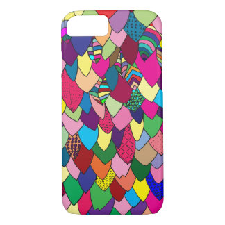 Modern | Colorful Hand Drawn Leaves iPhone 8/7 Case