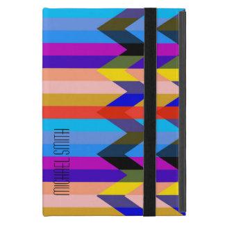 Modern Colorful Herringbone Chevron Stripes Case For iPad Mini