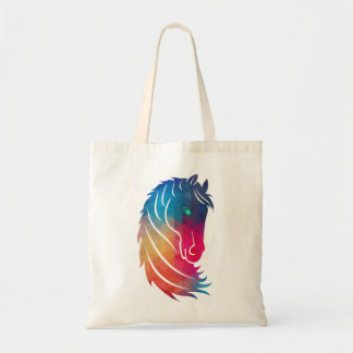 Modern Colorful Horse Head Illustration