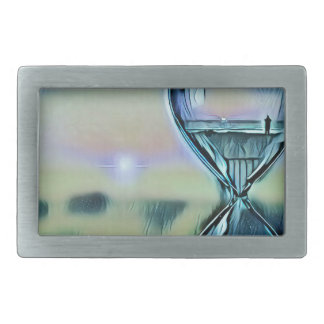 Modern Colorful Hourglass Passage Of Time Rectangular Belt Buckles