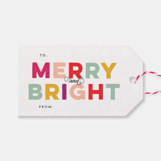 Modern Colorful Merry and Bright Twine
