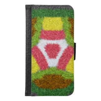 Modern colorful modern pattern samsung galaxy s6 wallet case