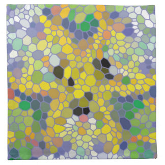 Modern colorful mosaic napkin