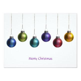 Modern Colorful Ornaments Christmas Greeting Card 17 Cm X 22 Cm Invitation Card