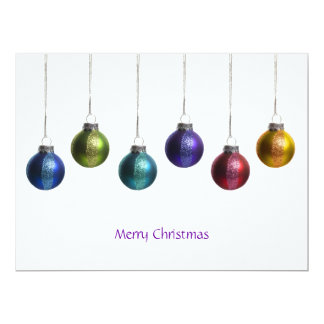 "Modern Colorful Ornaments Christmas Greeting Card 6.5"" X 8.75"" Invitation Card"
