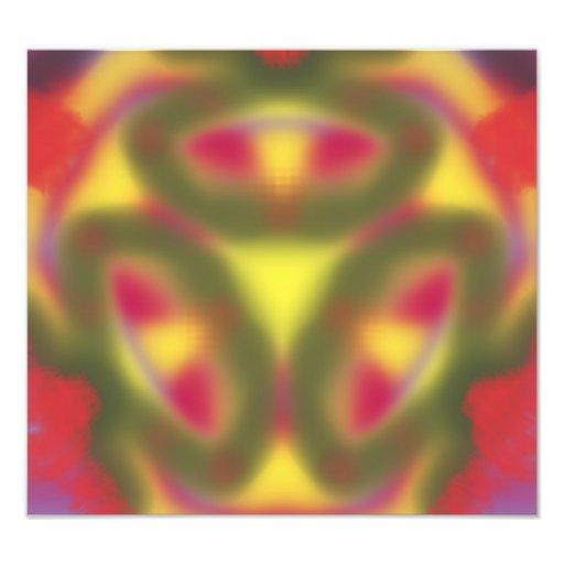 Modern colorful pattern photo art