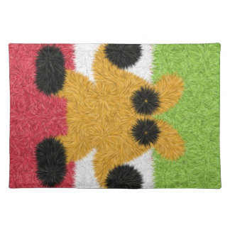Modern colorful pattern placemat