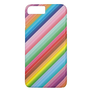 Modern colorful striped pattern custom iPhone 7 plus case