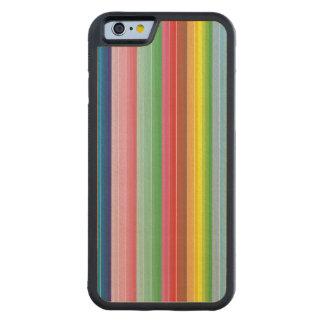 Modern colorful striped pattern custom maple iPhone 6 bumper