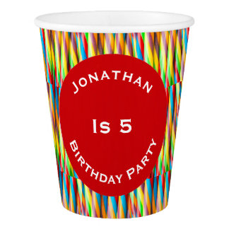 Modern Colorful Stripes Pattern Paper Cup