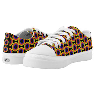 modern colorful unique pattern low tops