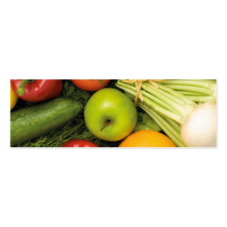 Modern Colorful Vegetables Grocery Nutritionist Pack Of Skinny Business Cards
