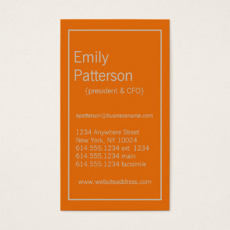 Modern Colors Light Gray & Orange 2 Business Card