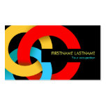 Modern Colour Overlapping Circles Business Card