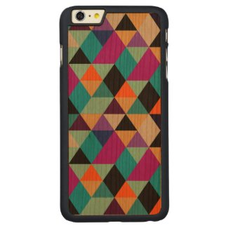 Modern Colourful Geometric Triangles iPhone Case