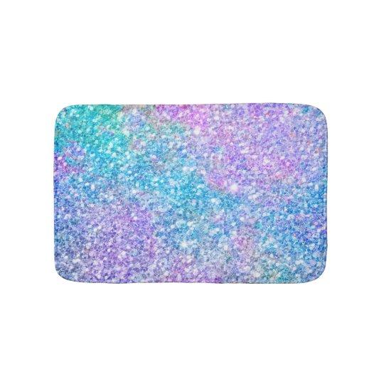 Modern Colourful Glitter Texture Bath Mat