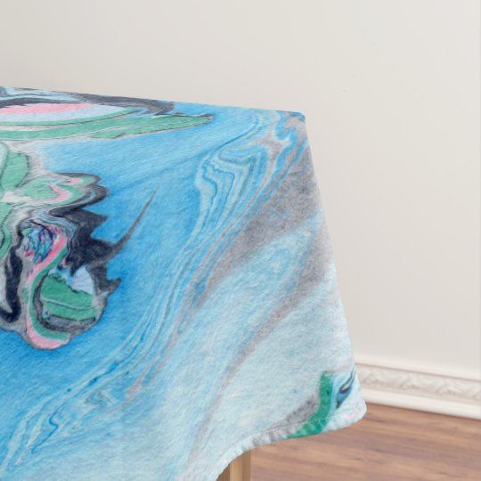 Modern Colourful Marble Stone Tablecloth
