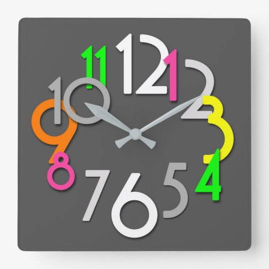 Modern Colourful Neon Wall Clock