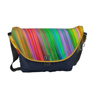 Modern colourful striped commuter bag