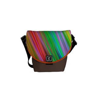 Modern colourful striped Mini Messenger Bag