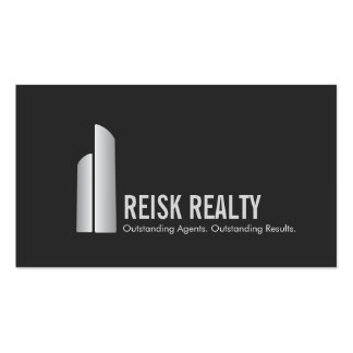 Modern Commercial Realtor Skyscraper Logo Business Card Template