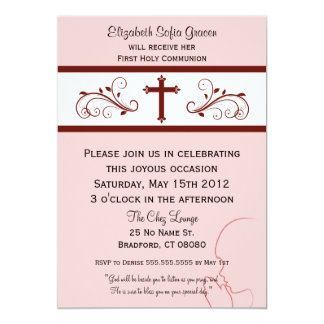 Modern Communion Invitations for Girls