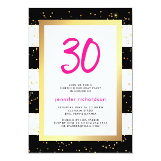 Modern Confetti | 30th Birthday Party Invitation