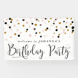 Modern Confetti Dots Birthday Party Banner