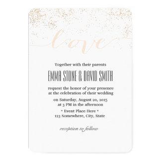 Modern Confetti Dots Script Love Wedding Card