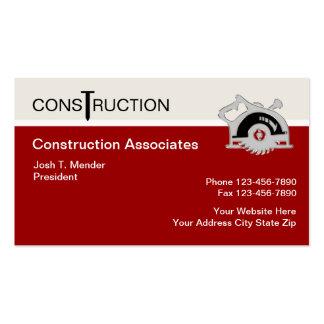 Modern Construction Business Cards