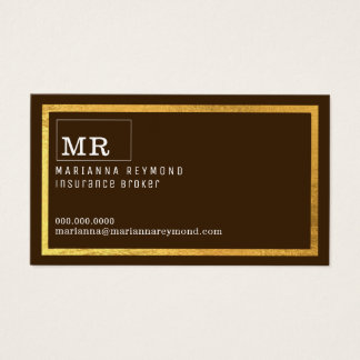 modern contact-card for an insurance broker business card
