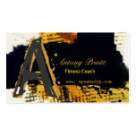 Modern Contemporary Abstract Art  Black  Gold Pack Of Standard Business Cards