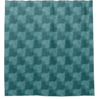 Modern Contemporary Abstract Heart Pattern Shower Curtain