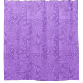 Modern Contemporary Abstract Lilac Pattern Shower Curtain