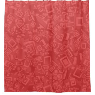 Modern Contemporary Abstract Red  Pattern Shower Curtain