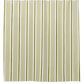 Modern Contemporary Gold Stripe Pattern Shower Curtain
