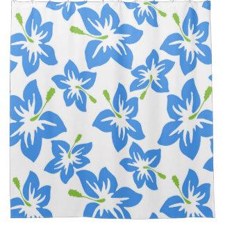 Modern Contemporary Hibiscus Pattern Shower Curtain