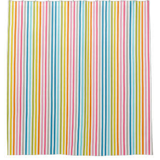 Modern Contemporary Stripe Pattern Shower Curtain