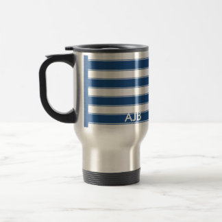 Modern Contemporary Stripes Travel Stainless Steel Travel Mug