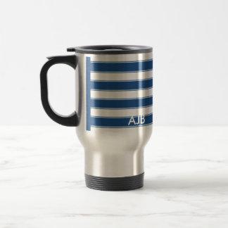 Modern Contemporary Stripes Travel Stainless Steel Travel Mug