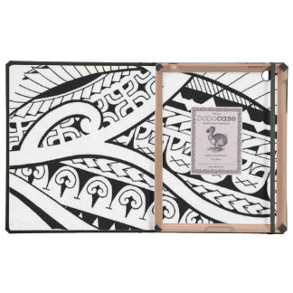 modern contemporary tattoo design Polynesia tribe Cases For iPad