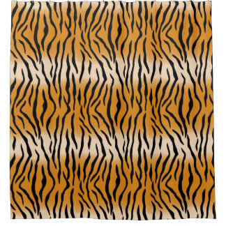 Modern Contemporary Tiger Pattern Shower Curtain