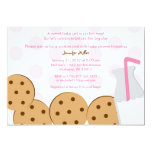 Modern Cookies and Milk Baby Shower Invitations 13 Cm X 18 Cm Invitation Card