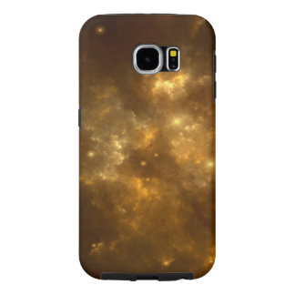 Modern Cool Beautiful Gold Nebula, Stars & Space - Samsung Galaxy S6 Cases