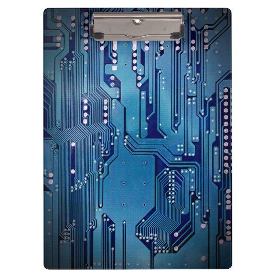 Modern Cool Blue Circuit Board High Tech Photo